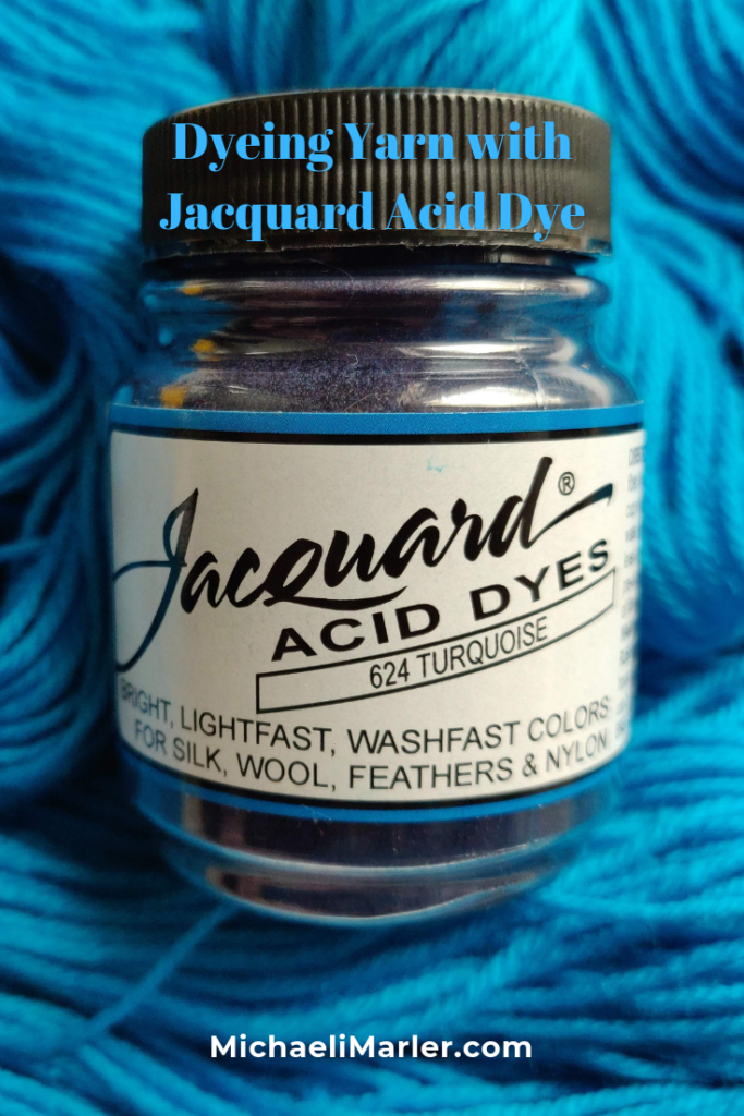 Dyeing Yarn with Jacquard Acid Dyes: Turquoise #dyeingtutorials