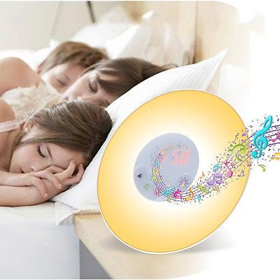 Uk #wake-up sunrise lights natural sounds alarm clock #colors lamp bedroom #radio,  View more on the LINK: http://www.zeppy.io/product/gb/2/142163938285/