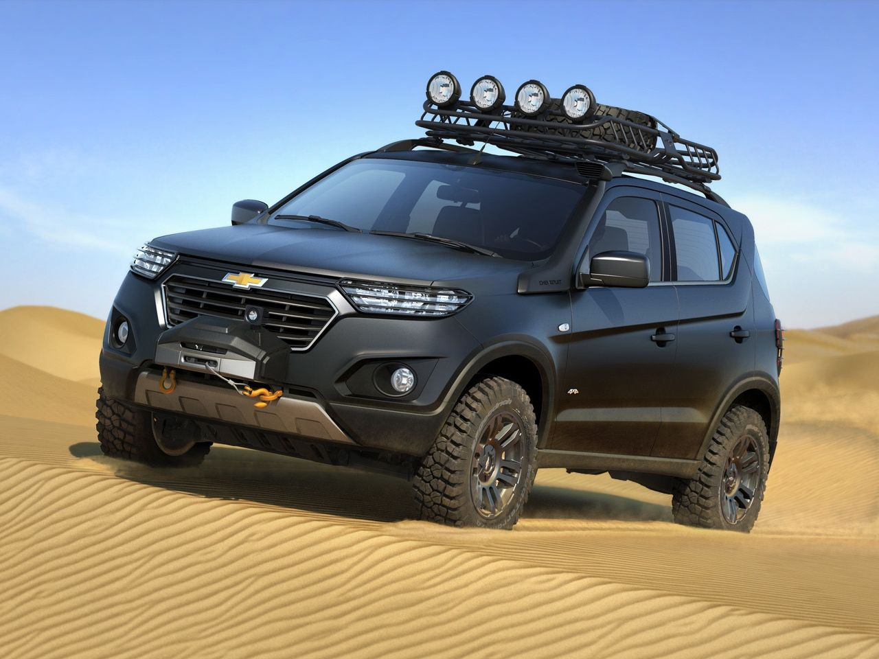 Chevrolet S New Niva Suv Concept Steps Out Of The Shadows