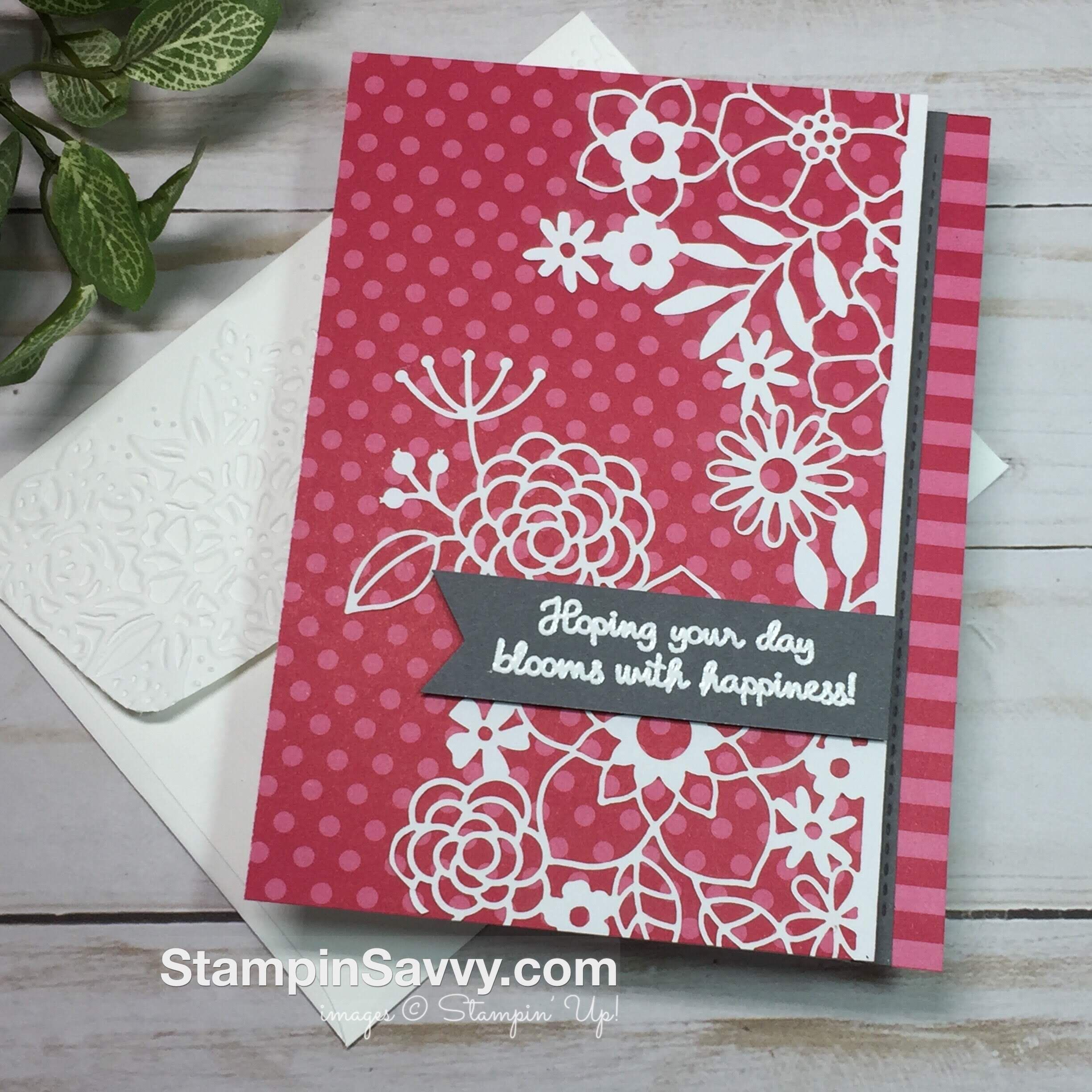 Delightfully Detailed Card In 3 Easy Steps With Savvy Tips Simple Birthday Cards Stamping Up Cards Paper Cards