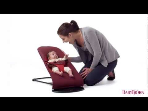 baby swing chair youtube paris cafe table and chairs bouncer balance soft from babybjorn natural rocking fun