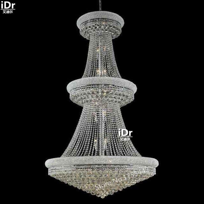 Gold Chandeliers Simple Luxury Hall Corridor Lamp Crystal Lamp Lights  Elegant Hotel Lamp 107cm W X 183cm H