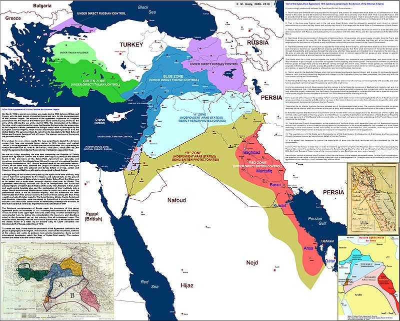 Map Of The Sykes Picot Agreement 1916 Jewish Virtual Library Map Cartography Map Historical Maps