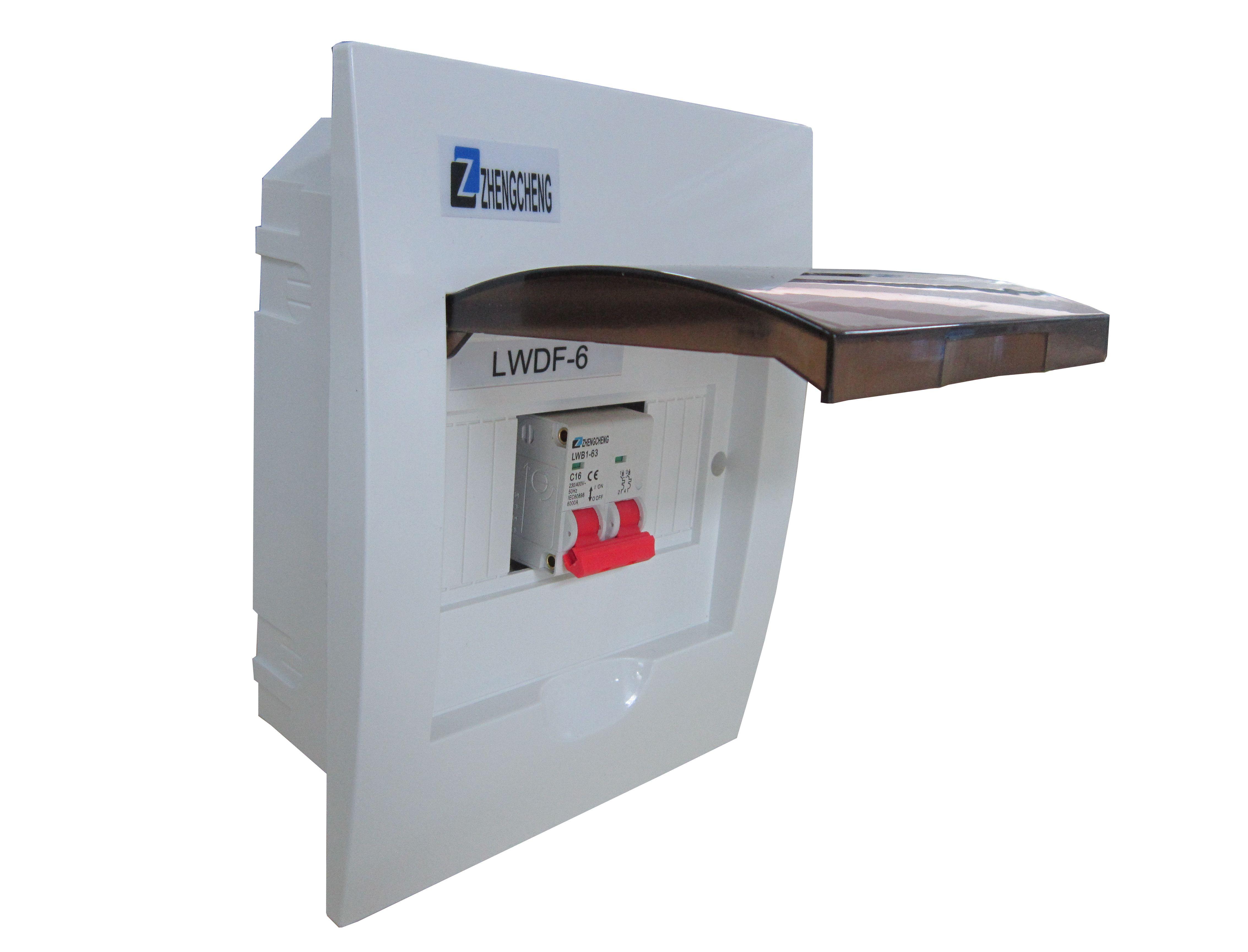 6 Way Flush Mount Distribution Box Mcb Miniature Circuit Breaker Double Poles 2p Elcb Earth Leakage Diy Electricals