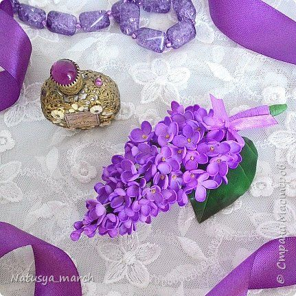 Украшения с цветами из фоамирана