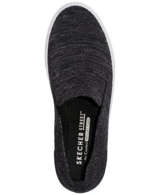 82d8ebc751d2 Skechers Women s Street Poppy Blurred Lines Slip-On Casual Sneakers from  Finish Line - Black 7.5