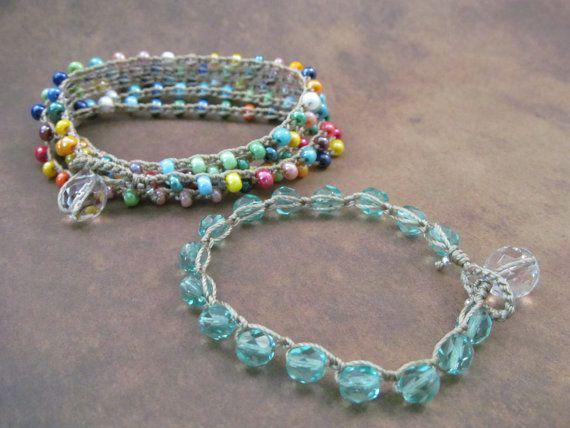 Crochet Jewelry Pattern - Crochet Wrap Bracelet tutorial - pdf ...