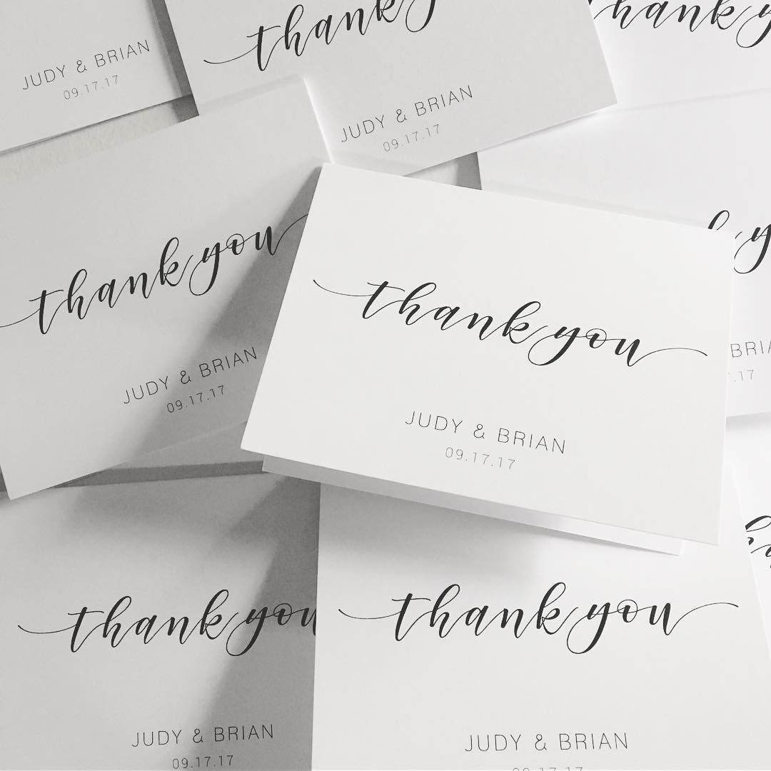 sweet simple thank you notes for the new mr mrs design by parkside