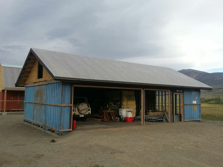 Garage With Roof Shipping Container Cabin Pinterest
