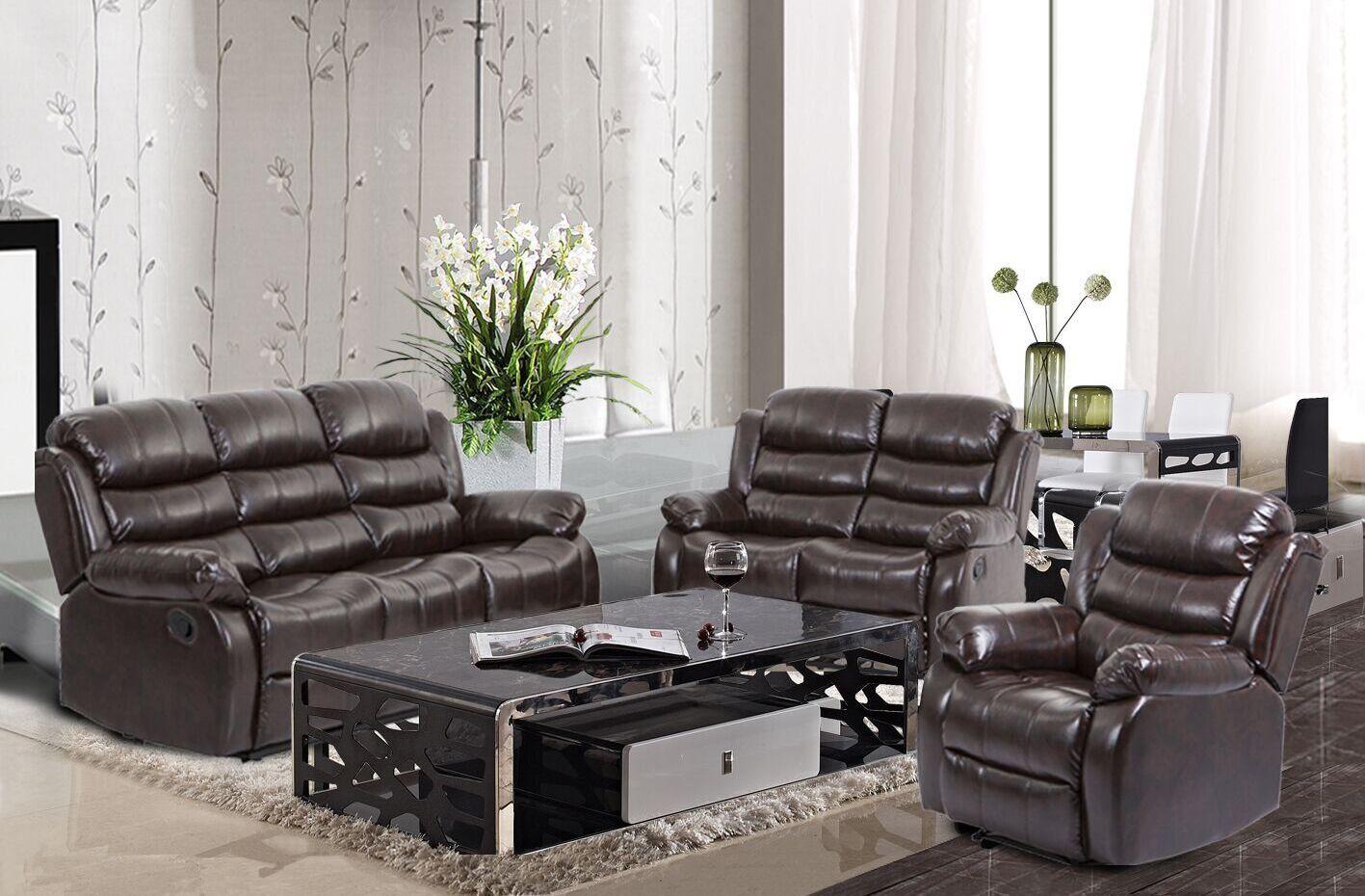 BestMassage Living Room Sofa Set Recliner Sofa Reclining ...