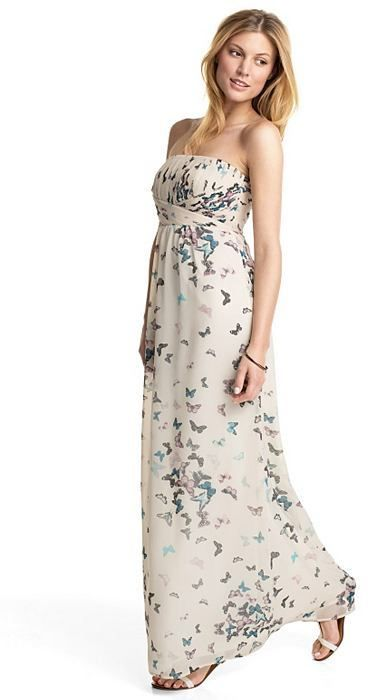 ESPRIT COLLECTION Schmetterlings-Print Chiffon-Empire-Kleid | Trends ...