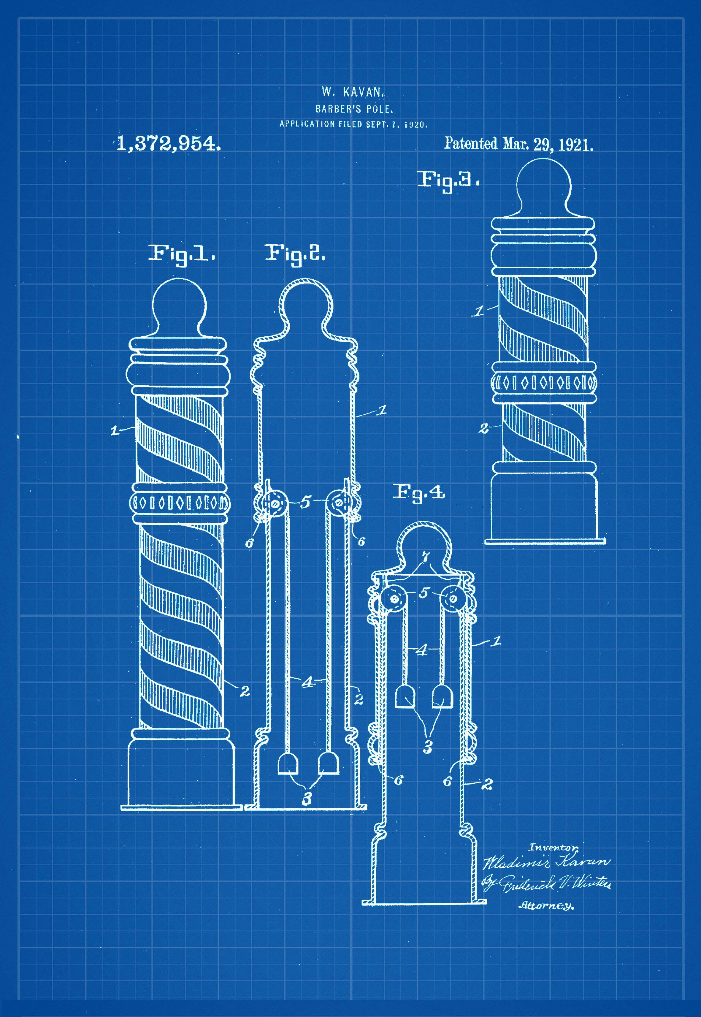 Barber pole illustration blueprint patent print malvernweather Images