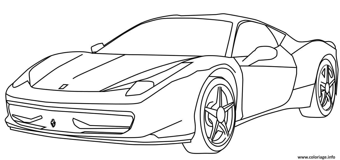 Coloriage voiture de course ferrari dessin Dessin à Imprimer (avec images) | Coloriage voiture ...