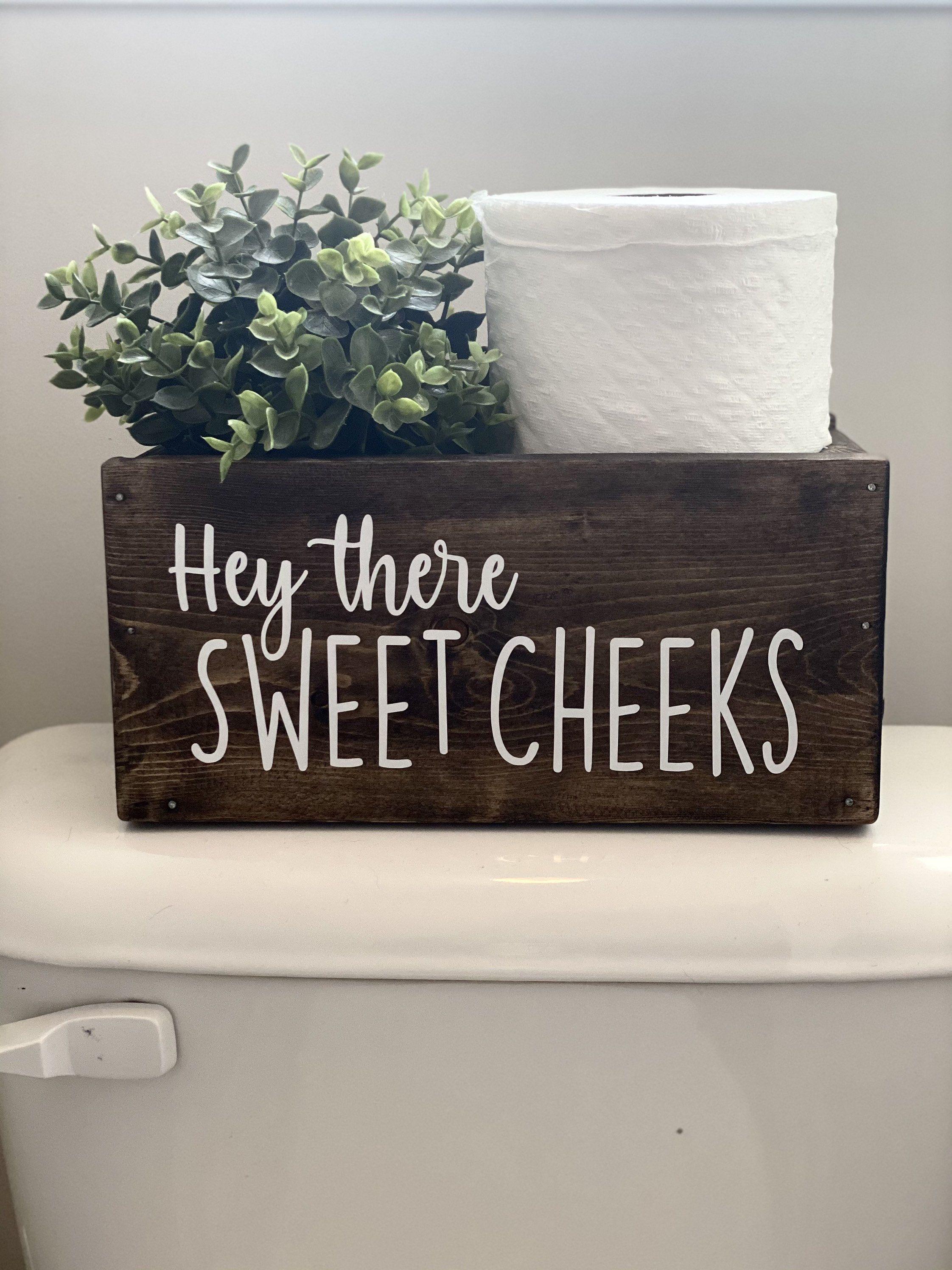 Photo of Hey There Sweet Cheeks. Bathroom Decor. Bathroom Caddy. Toilet | Etsy