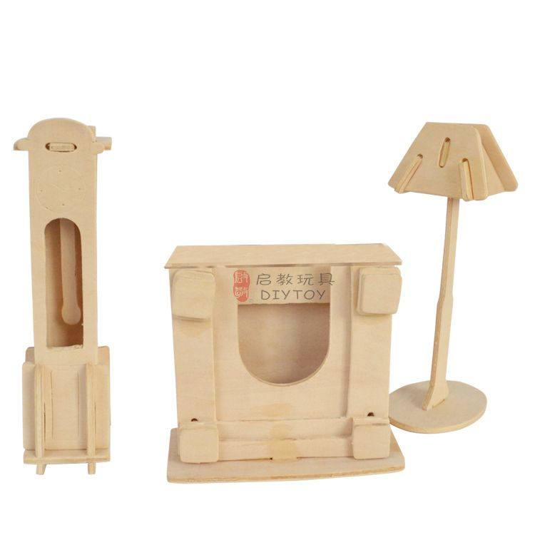 Clock Lamp----3D Jigsaw Woodcraft DI series Realistic Wooden Model Toy,New Year present