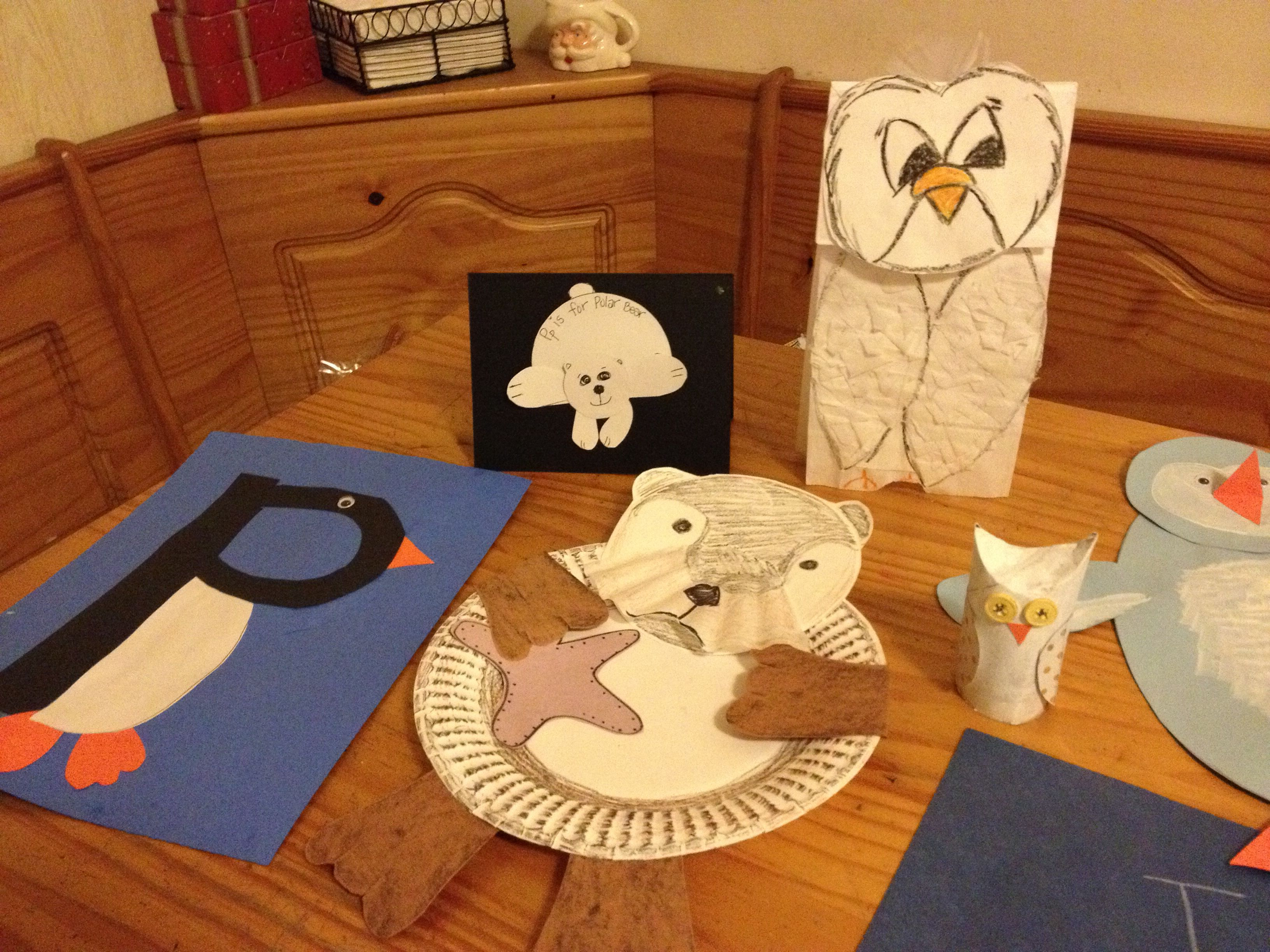 Some Of Our Craft Samples For Tot S Arctic Animal Unit