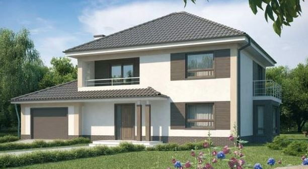 Fachadas de casas bonitas de 2 plantas casa pinterest for Fachada de casas modernas y bonitas