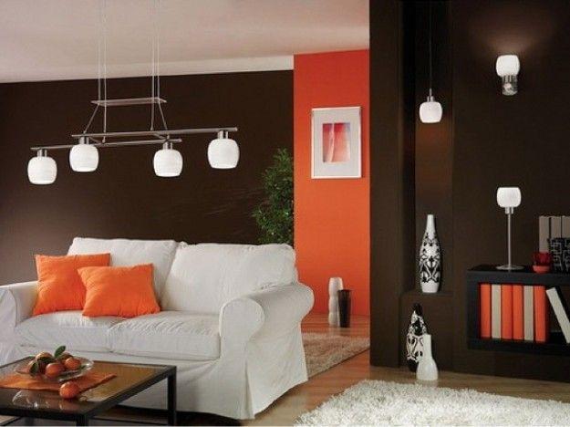 Divano Arancione E Marrone : Abbinare due colori in una stanza pareti colori pareti salotto