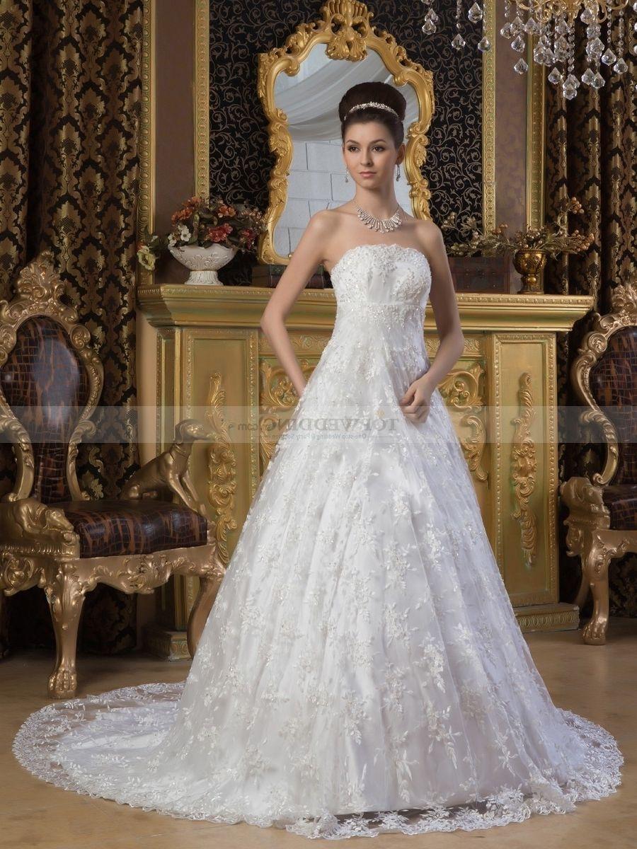 Princess Cut Wedding Dresses With Bling