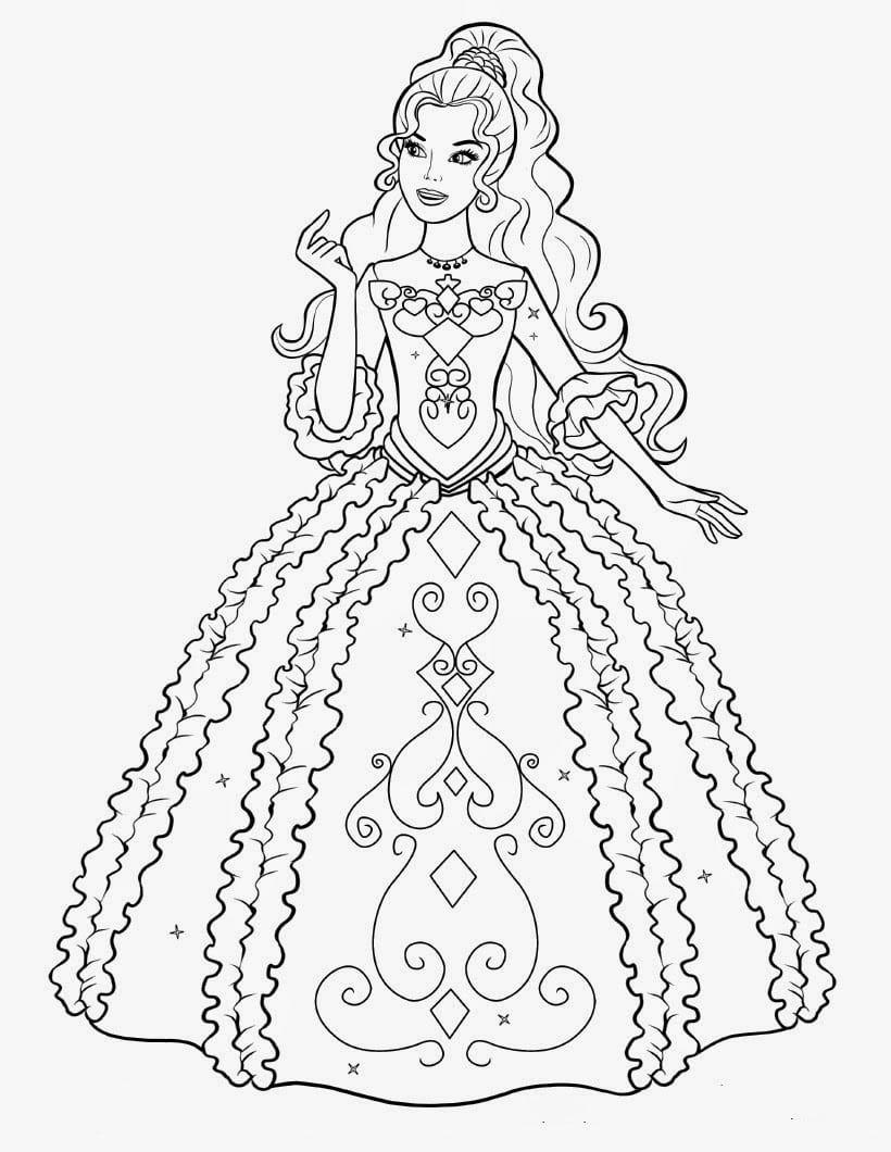 Barbie Desenhos Lindos Para Pintar Colorir Imprimir Barbie