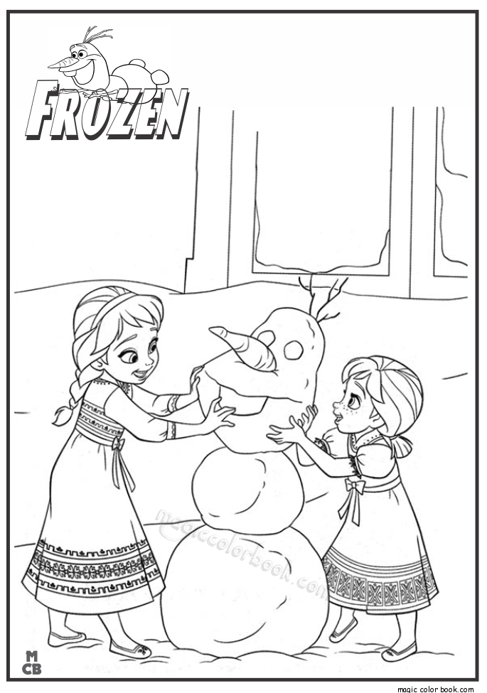 olaf frozen snowman coloring pages