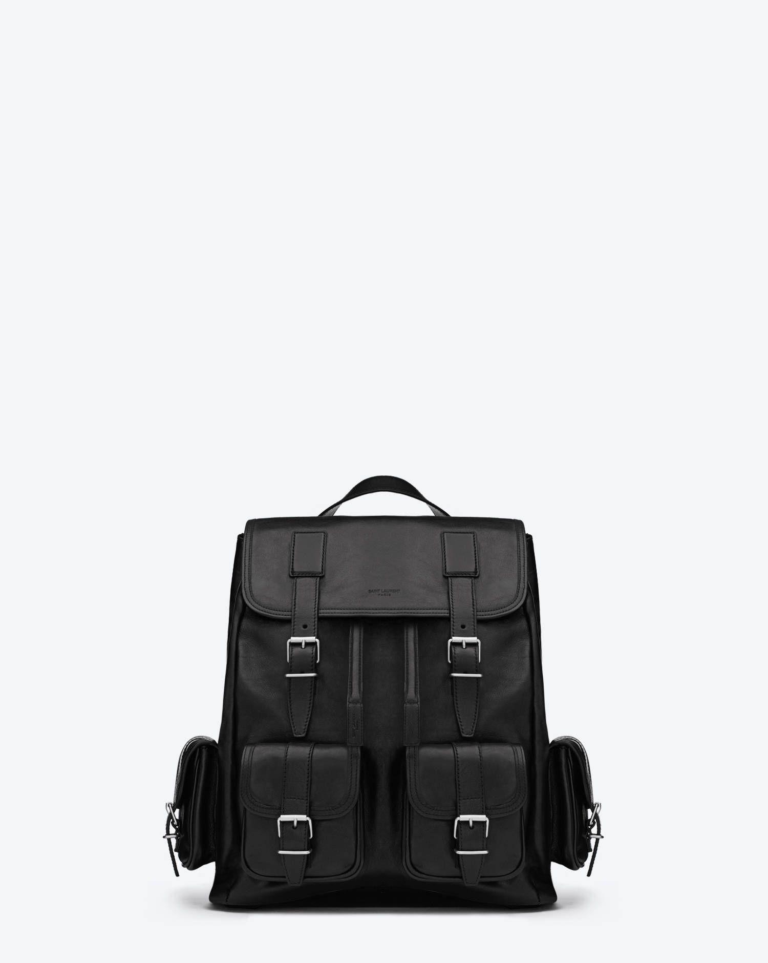 0eb83ce86c9 Rock Sac Backpack in Black Leather - Travel – Bags – Shop Men – Yves Saint  Laurent – www.ysl.eu
