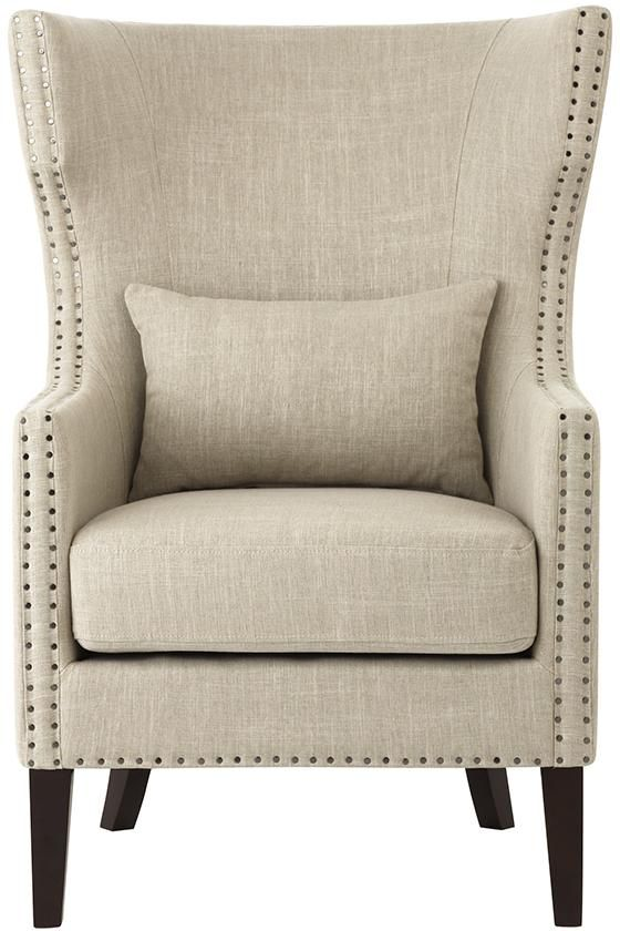 Home Decorators Collection Bentley Birch Neutral Upholstered Arm