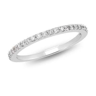 14k White Gold Aail Diamond Wedding Band 21 Ct