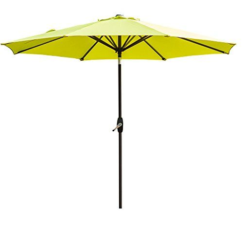 AMT 9u2032 Market Patio Umbrella, Lime Green
