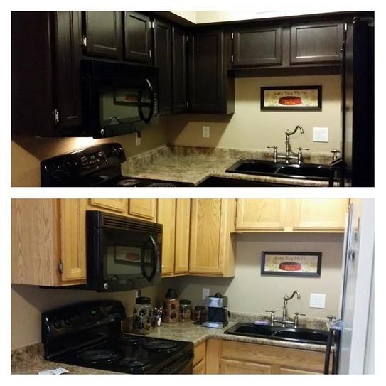 Rust Oleum Transformations Dark Color Cabinet Kit 9 Piece 258240 The Home Depot Cabinet Dark Colors Diy Home Improvement