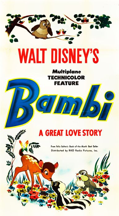 Vintage Bambi (via The Merry Blog) #bambi #deer #disney