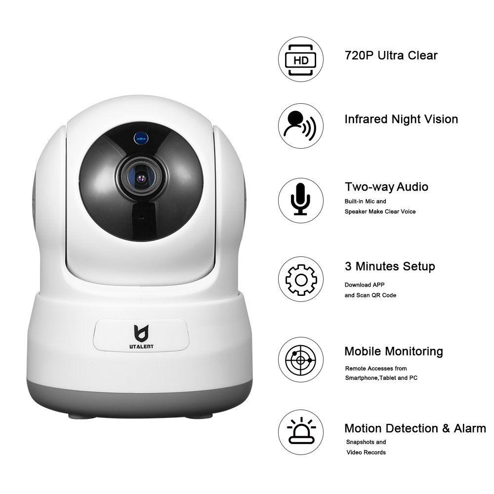 Wireless Security Camera Utalent 720P HD Indoor WiFi Home