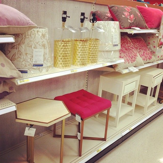 Target home decor threshold ottoman pink gold pillows | Pink Room ...
