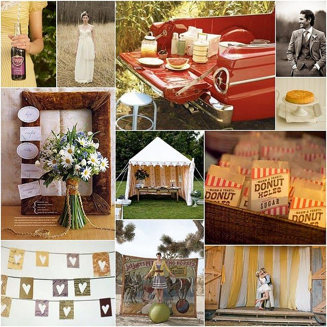 Vintage Carnival Wedding Ideas: {#89} Under The Big Top Inspiration Board (With Images