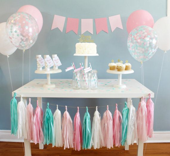 Cotton Candy Party In A Box Handmade Party Decorations For