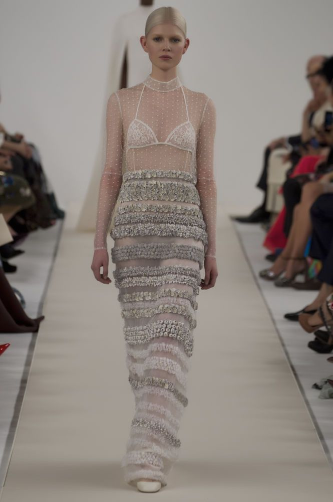 A look from Valentino's Sala Bianca haute couture collection. Photo: Dan Lecca for Valentino