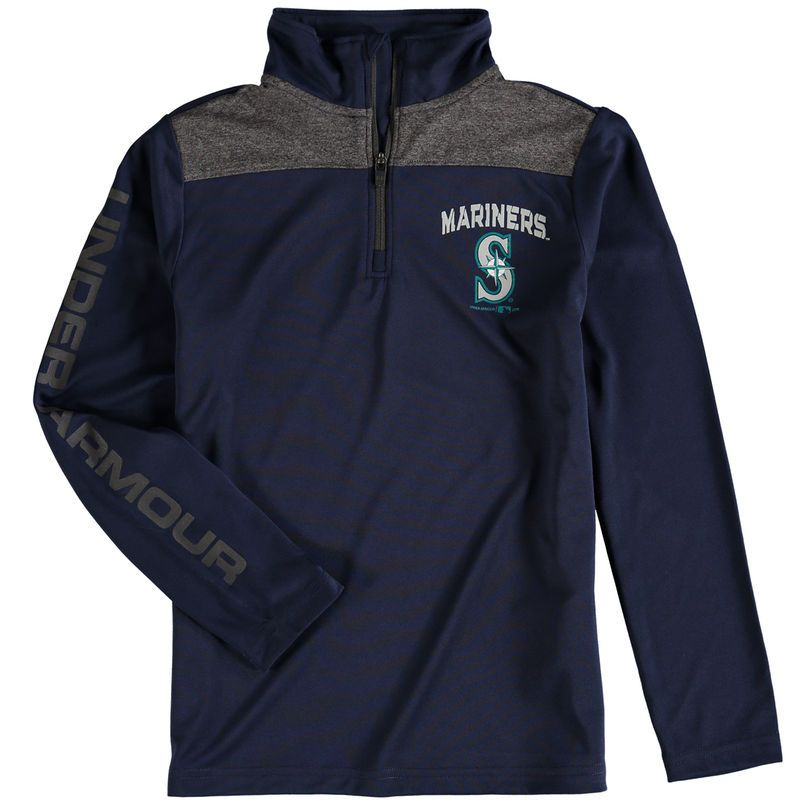 Seattle Mariners Under Armour Youth Tech 1/4-Zip Performance ...
