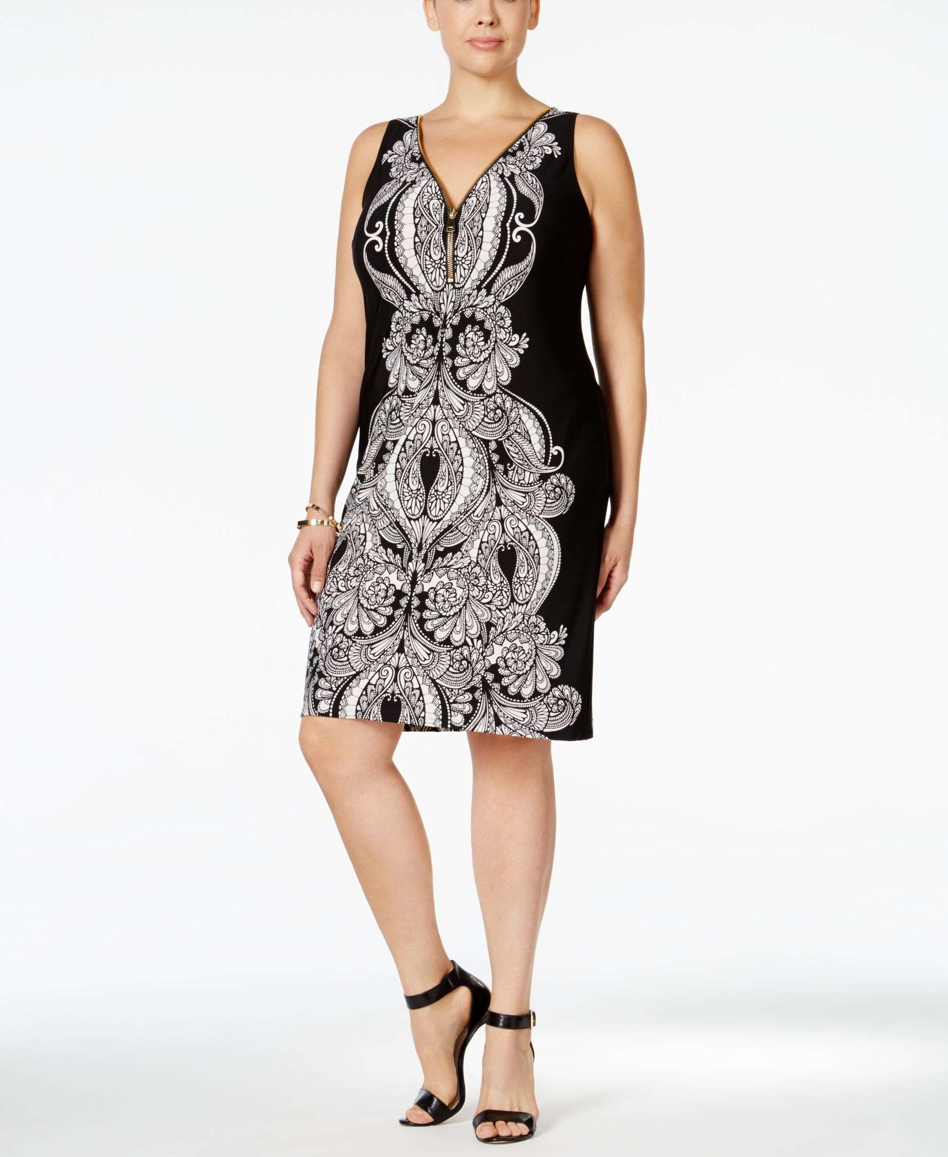 Inc International Concepts Plus Size Printed Sheath Dress, Only at ...