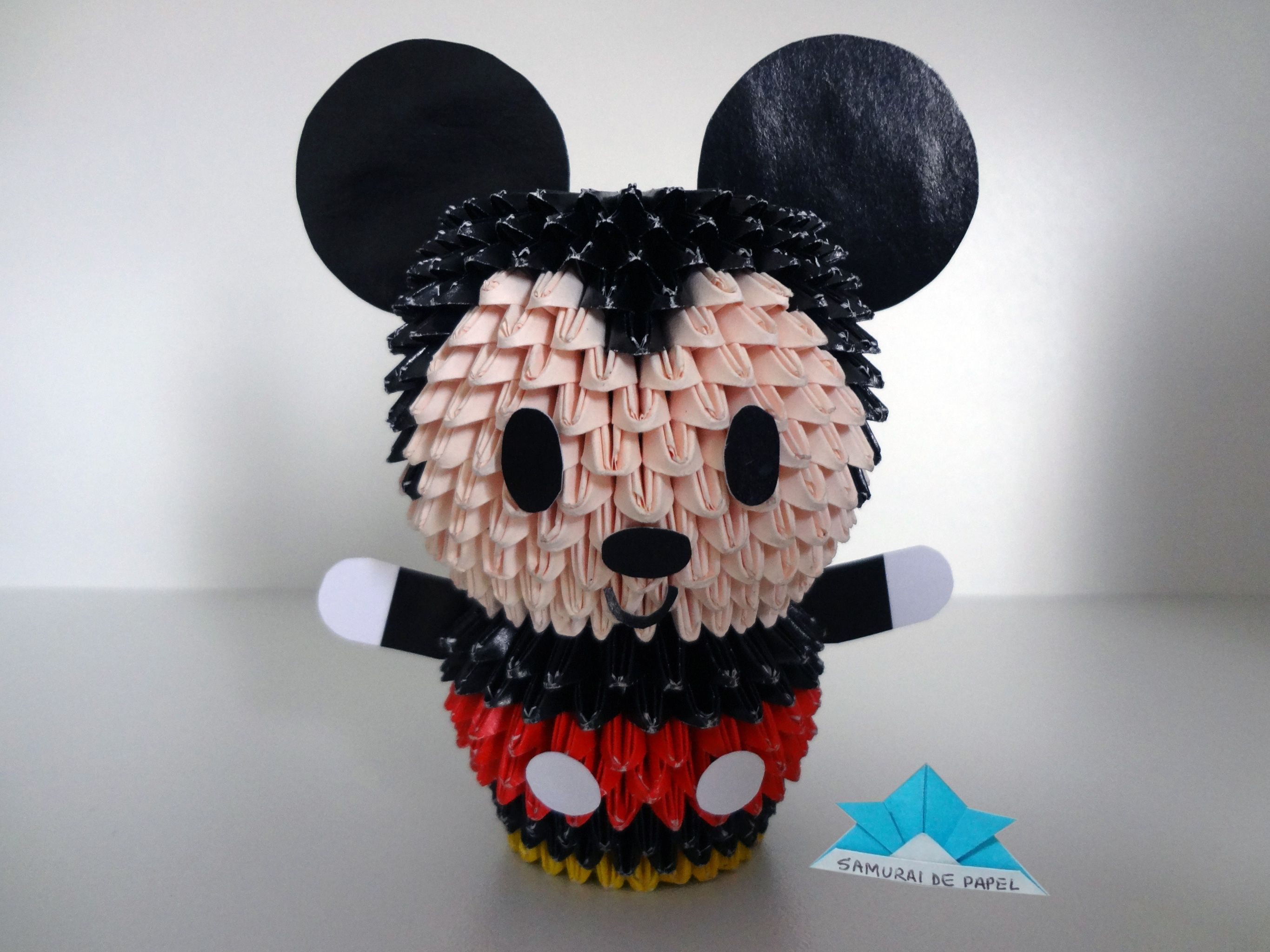 Origami 3d mickey 3d origami pinterest origami 3d and 3d origami 3d mickey jeuxipadfo Choice Image