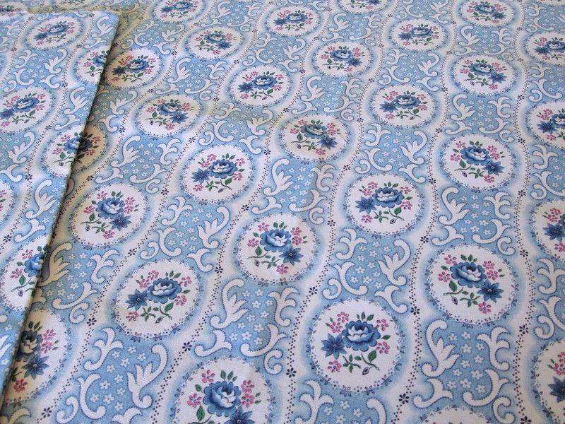 Vintage Bettwäsche Vintage Kissenbezug Rosen U Ornamente Blau