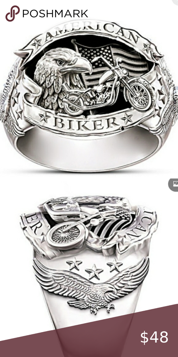 American biker ring sz9 or 10