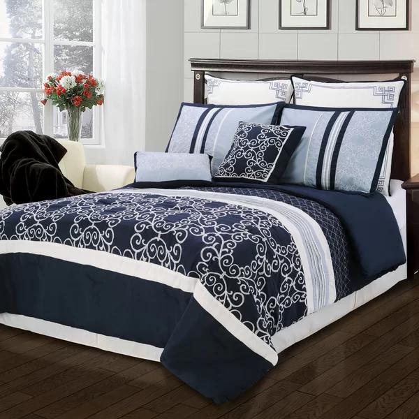 Charlton Home Ayala 8 Piece Comforter Set Reviews Wayfair Comforter Sets Bedding Sets Home