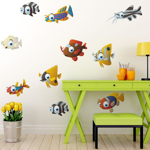 Adesivi per bambini: Acquario. Adesivi murali bambini a kit ...