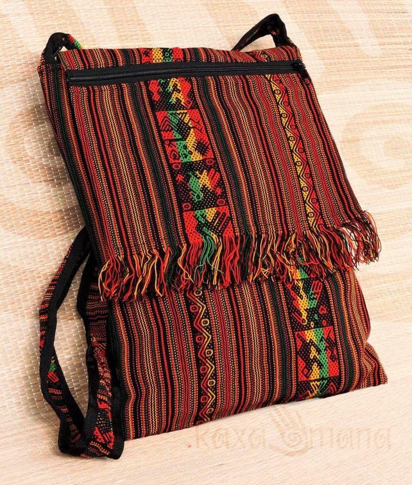 f38390c4b Coleção Povos dos Andes e América | Kaxamana Bolsa Peruana Transversal  Unissex Bolsa unissex transversal com