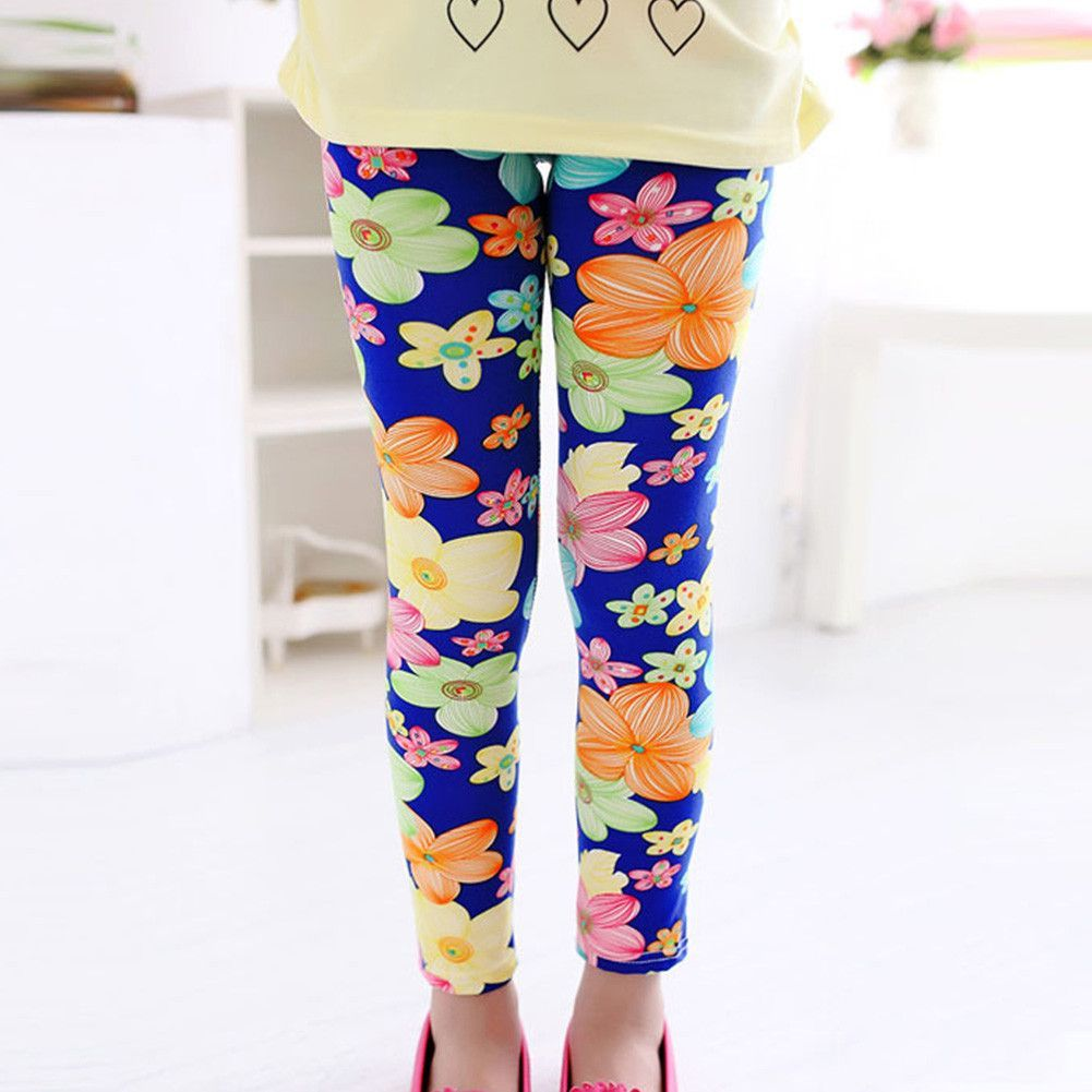 a50f231ecfe3a New Arrive Printing Flower Girls Leggings Toddler Classic Leggings 2-14Ybaby  Girls Leggings Kids Leggings