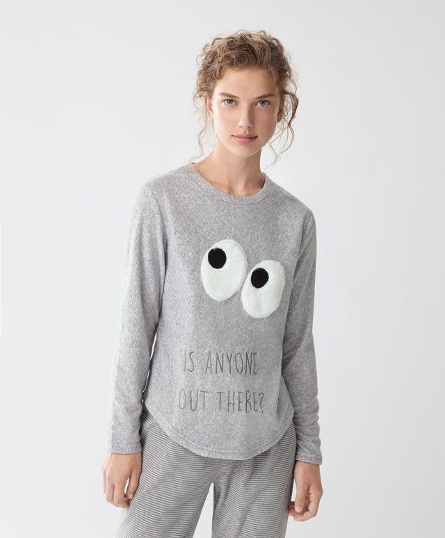 f2e71b9cd2 Camiseta polar ojos - Ver Todo - Rebajas de Invierno en moda de mujer en  Oysho online  ropa interior
