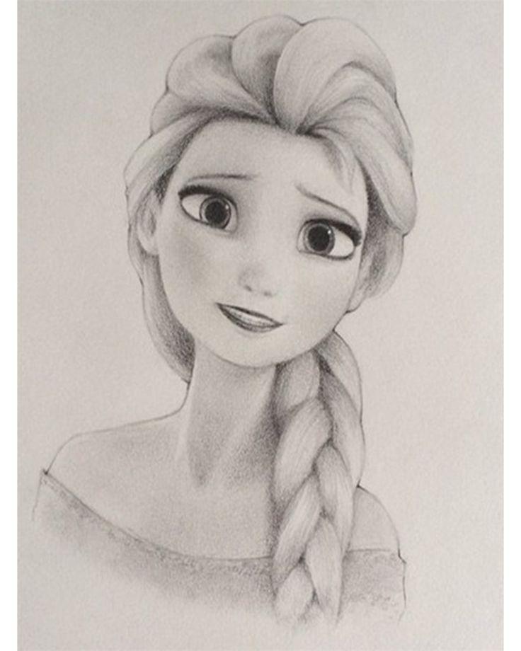 Dibujos A Lapiz De Princesas De Disney Buscar Con Google Elsa Dibujo Dibujos Elsa Frozen Dibujo