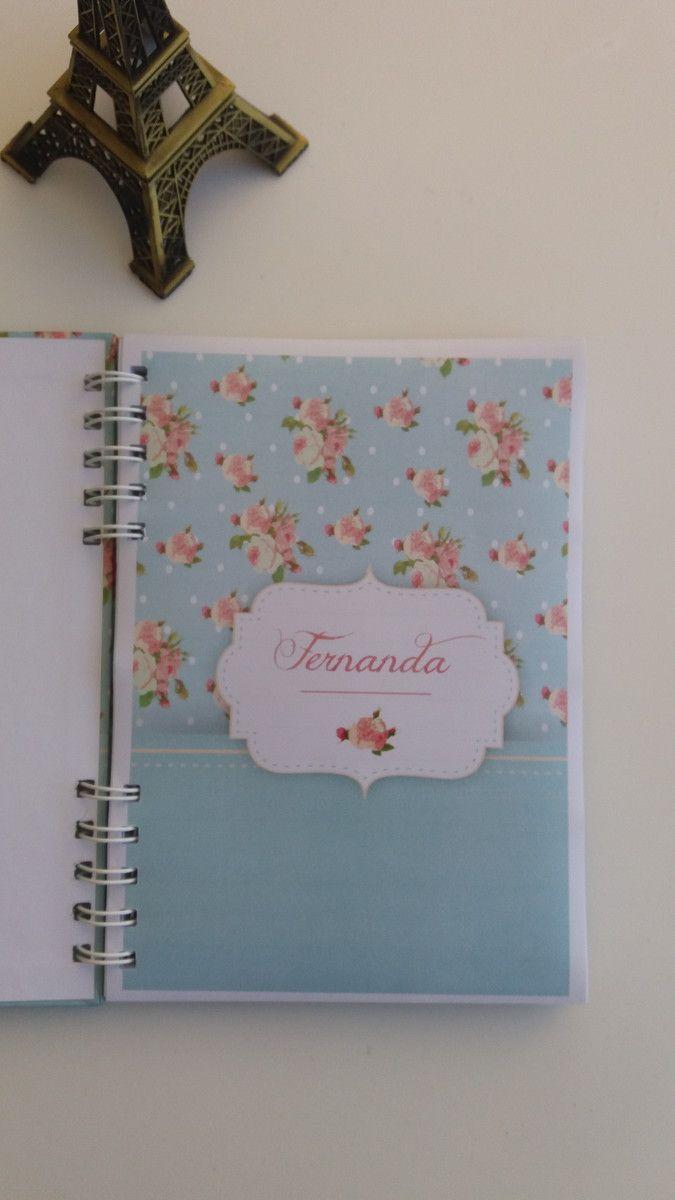 Caderno Tamanho A5 Com Capa E Primeira Folha Personalizadas 60