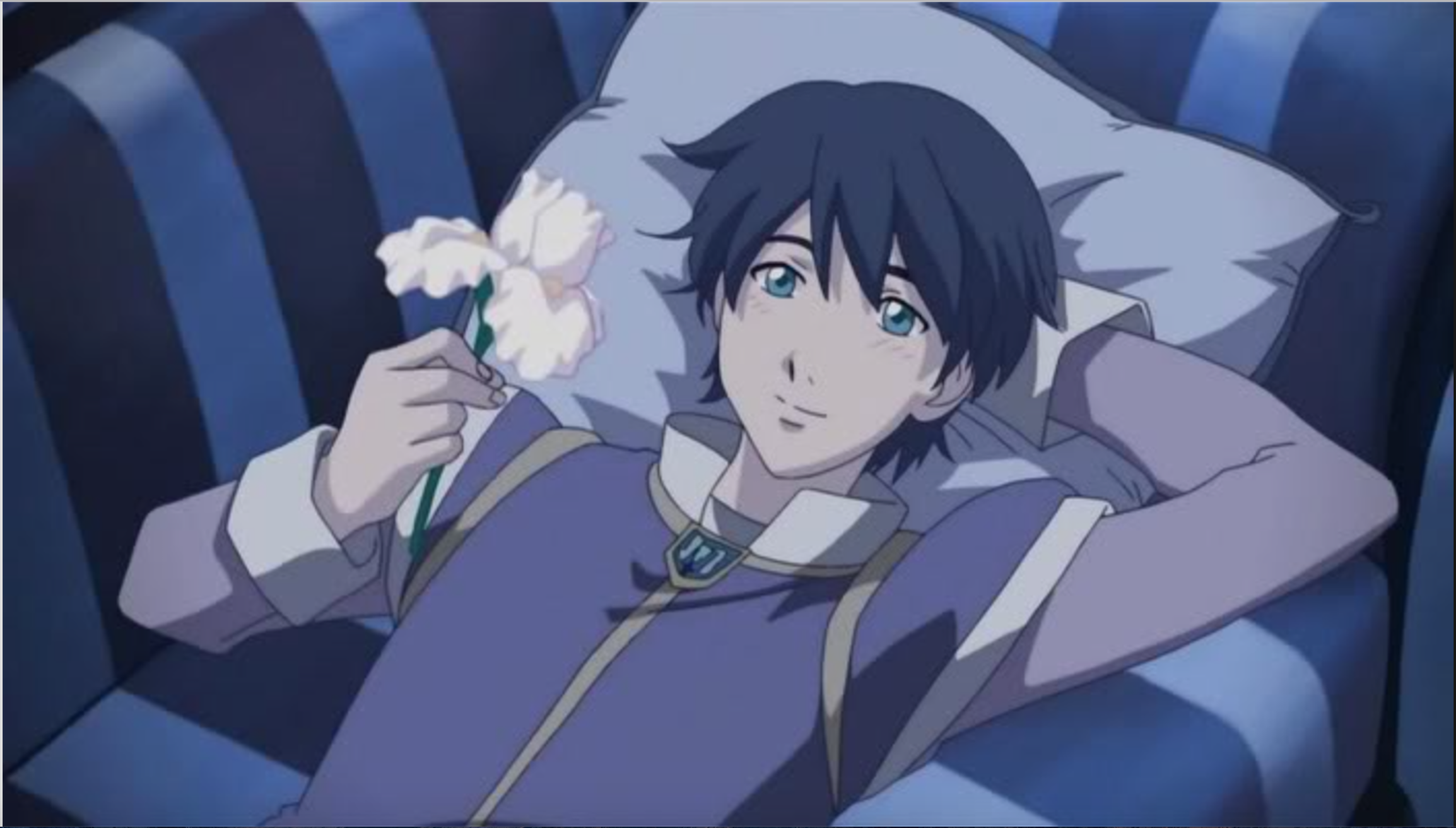 Romeo daydreams of juliet as he holds the iris flower from romeo x romeo daydreams of juliet as he holds the iris flower from romeo x juliet anime izmirmasajfo