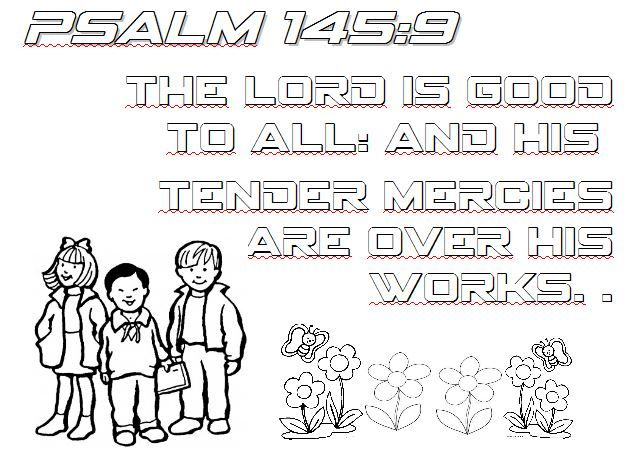 Psalm 145 9 Master Clubs Lookouts Bible Verse Coloring Page